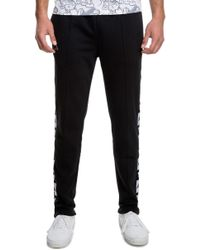 07be9b5e5476 Lyst - Kappa Authentic Logo Print Track Pants in Black for Men