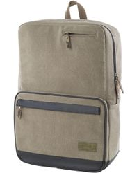 Lyst - Herschel Supply Co. Settlement Two Tone Backpack in Khaki red ... 33954f897eb6d