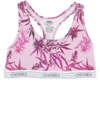 Chonies Brand - The Strawberry Kush Sports Bra - Lyst