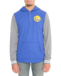Mitchell   Ness - The Golden State Warriors Mid Season Hoodie In Blue - Lyst 890392b37