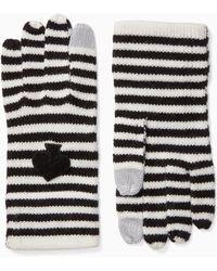 Kate Spade - Stripe Tech Gloves - Lyst