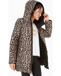 Kate Spade - Reversible Leopard-print Parka Jacket - Lyst