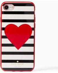 Kate Spade | Heart Stripe Iphone 7 Case | Lyst