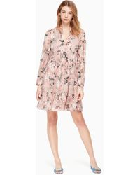 Kate Spade - Botanical Chiffon Mini Dress - Lyst