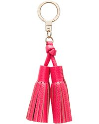 Kate Spade - Double Leather Tassel Keychain - Lyst