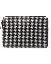Kate Spade - Houndstooth Universal Laptop Sleeve - Lyst