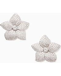 Kate Spade - Blooming Pave Bloom Statement Studs - Lyst
