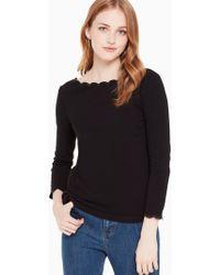 Kate Spade - Scallop Knit Top - Lyst