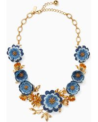 Kate Spade - Flower Child Statement Necklace - Lyst