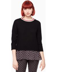 Kate Spade - Diamond Mixed Media Jumper - Lyst