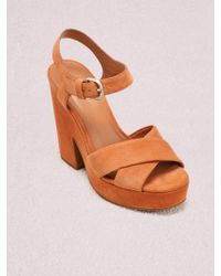 443f7bac7547 Kate Spade Ismary Leopard Print Calf Hair Bow Dress Sandals - Lyst