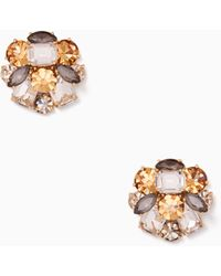 Kate Spade - Shine On Cluster Studs - Lyst