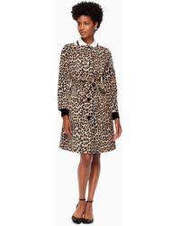 Kate Spade - Leopard Coat - Lyst