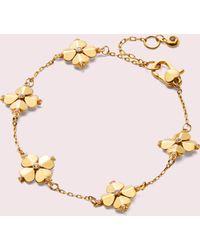 Kate Spade - Legacy Logo Spade Flower Bracelet - Lyst
