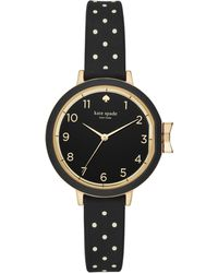 Kate Spade - Polka Dot Silicone Park Row Watch - Lyst