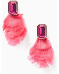 Kate Spade - In Full Feather Studs - Lyst