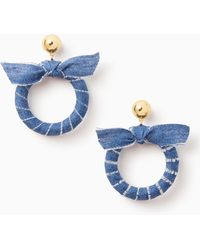 Kate Spade - Tie It On Hoops - Lyst