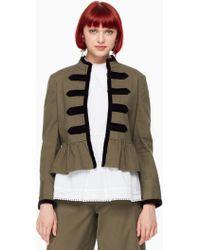 Kate Spade - Velvet Trim Military Jacket - Lyst
