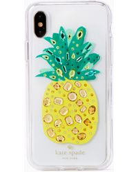 Kate Spade - Jewelled Pineapple Iphone X Case - Lyst