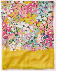 Kate Spade - Floral Dots Oblong Scarf - Lyst