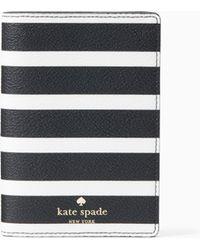 Kate Spade - Hyde Lane Stripe Passport Holder - Lyst
