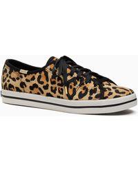 Kate Spade - Keds X New York Leopard-print Sneakers - Lyst