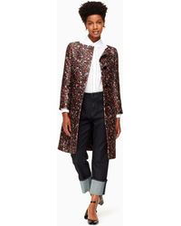 Kate Spade | Boho Floral Jacquard Coat | Lyst