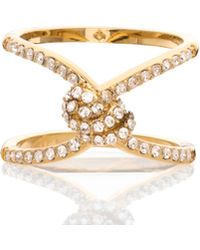 Kate Spade | Infinity & Beyond Pave Knot Ring | Lyst