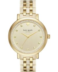 77199e509ca Kate Spade - Gold And Horn Monterey Watch - Lyst
