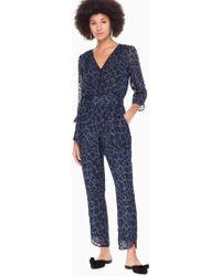 Kate Spade - Leopard-print Clip Dot Jumpsuit - Lyst