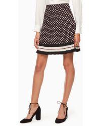 Kate Spade - Diamond Pleated Skirt - Lyst