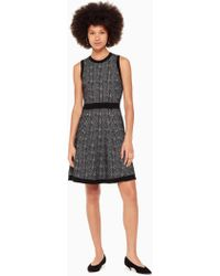 214db0ec Kate Spade Multi-tweed Fringe Dress in Black - Lyst