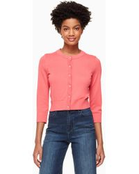 Kate Spade - Jewel Button Cropped Cardigan - Lyst