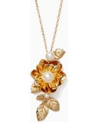 Kate Spade - Lavish Blooms Pendant - Lyst