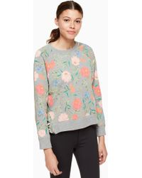 Kate Spade - Blossom Crop Pullover - Lyst