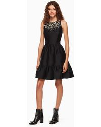 Kate Spade - Pearl Embellished Mikado Dress - Lyst