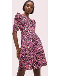 ebba91e7a83b kate spade new york. Kate Spade - Marker Floral A-line Dress - Lyst