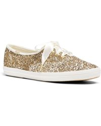 Keds - X Kate Spade New York Women's Glitter Lace Up Sneakers - Lyst