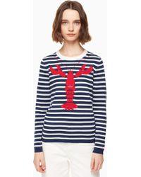 Kate Spade - Lobster Stripe Jumper - Lyst