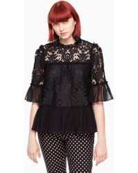 Kate Spade - Tapestry Lace Top - Lyst