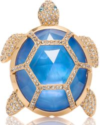 Kate Spade - Paradise Found Turtle Brooch - Lyst