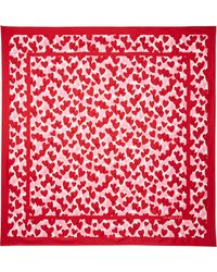 Kate Spade | Heart Party Square Scarf | Lyst