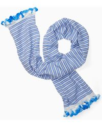 Kate Spade - Candy Stripe Woven Oblong Scarf - Lyst