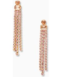 Kate Spade - Glitzville Fringe Earrings - Lyst