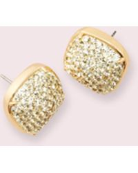 Kate Spade - Clay Pave Small Square Studs - Lyst