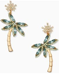 Kate Spade - California Dreaming Palm Tree Statement Earrings - Lyst