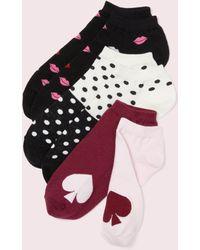 Kate Spade - Lips No-show Sock Set - Lyst