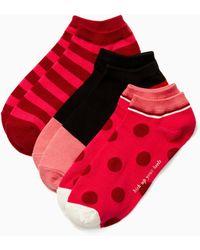 Kate Spade - Stripe No Show Sock Set - Lyst