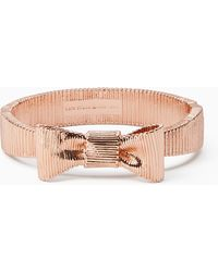 Kate Spade | All Wrapped Up Bow Hinged Bangle | Lyst