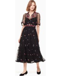 Kate Spade - Camelia Embroidered Midi Dress - Lyst